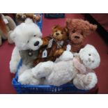 Four Charlie Bears, to include 'Griswald' designed by Heather Lyell, Jane, Scamp and Mercedes, 30-