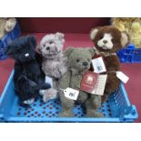 Four Charlie Bears, to include 'Ayla' designed by Isabelle Lee, 'Teddy', Lanson and Bear, 26-29cm