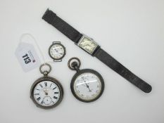 J. G. Graves; An Openface Pocketwatch, the signed dial with black Roman numerals and seconds