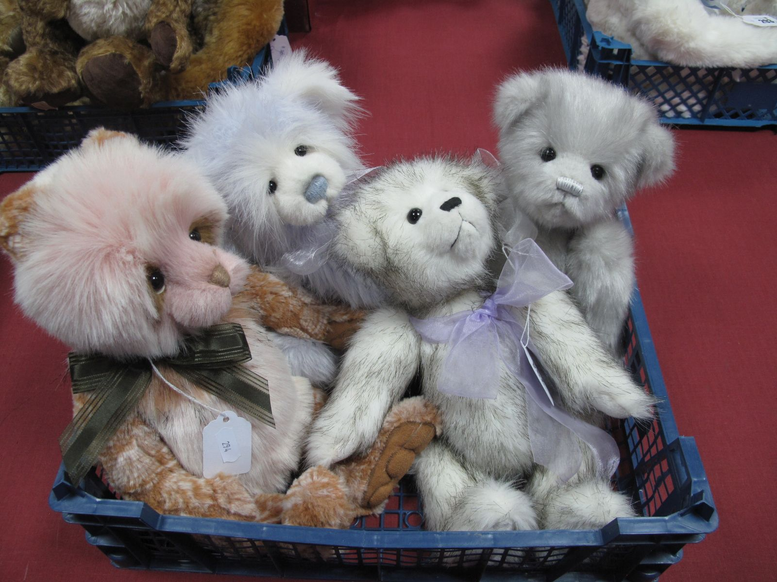 Four Charlie Bears, to include 'Nancy', Molly and two others unnamed, 28 -38cm high. (4)