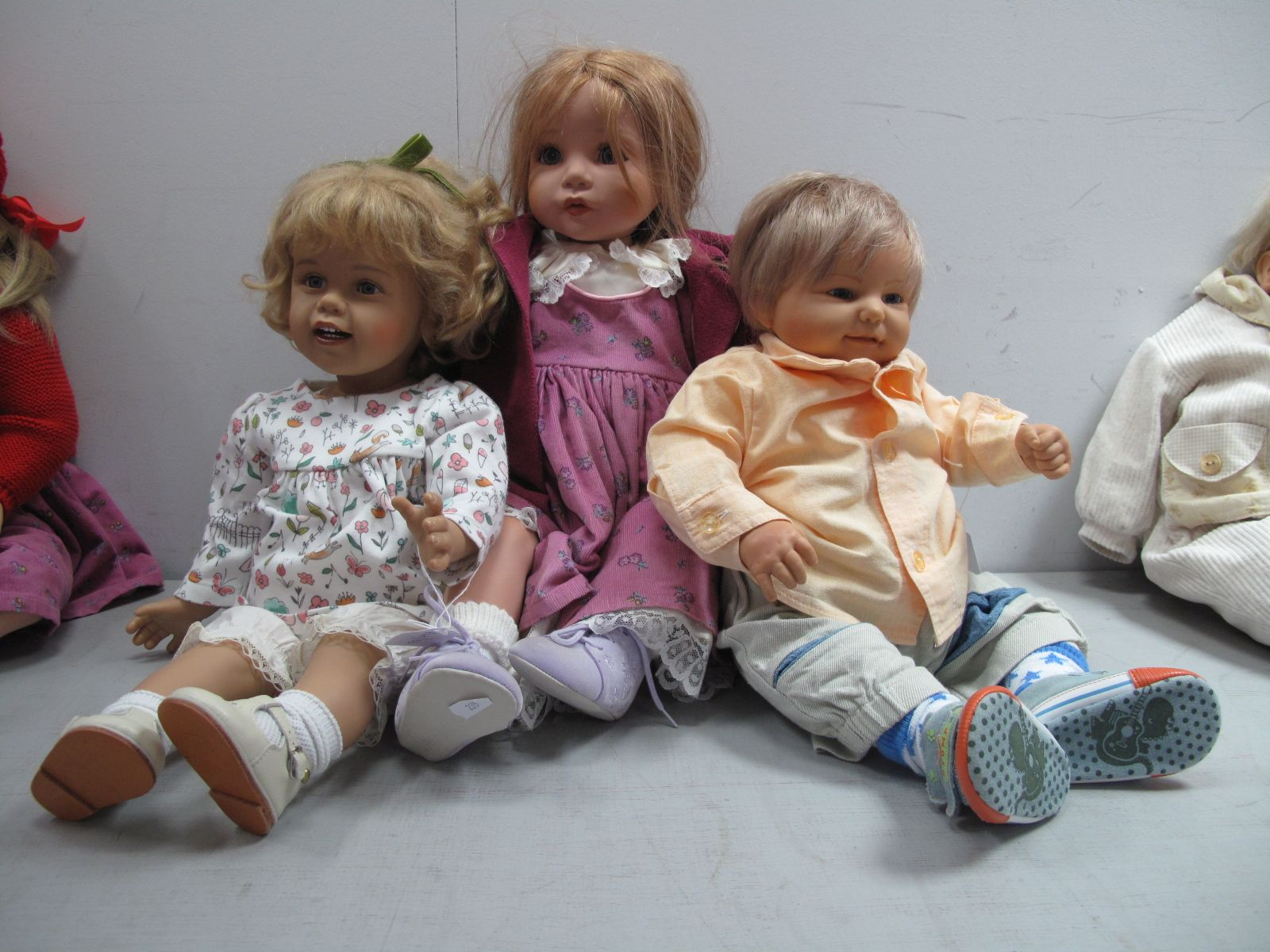 A Gotz Doll, marked indistinctly, 55cm high, a doll Celia impressed GC904, 62cm highand another doll