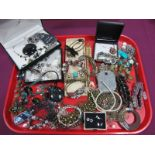 A Mixed Lot of Assorted Costume Jewellery, including ornate bangles, necklaces, charm style
