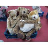 A Merrythought Teddy Bear, with pale golden fur, 43cm high, a Deans Elite 'Oakwood' bear, number