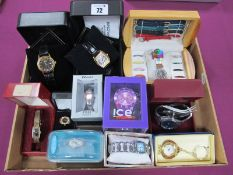 ICE, Seiko, Zeitner, Accurist and Other Modern Wristwatches, including a watch ring and a keyring