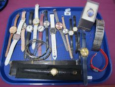 Sekonda, Pineapple, Timex and Other Modern Ladies Wristwatches: One Tray.