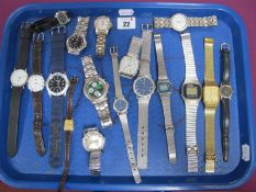 Assorted Ladies and Gent's Wristwatches, including Sekonda, Anker, Accurist, Tissot, etc :- One Tray