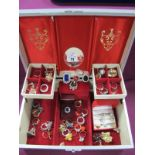 """A Collection of Assorted Dress Rings, including """"M&S"""", etc, contained in a jewellery box."""