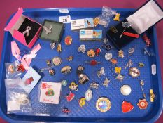 """Enamel and Other Pins/Badges, including Girl Guides, RSPB, an """"MG Owners Club 1973 - 1983"""