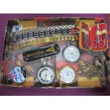 Ingersoll, Prestige and Other Pocketwatches, gent's bracelets, novelty manicure set in a miniature