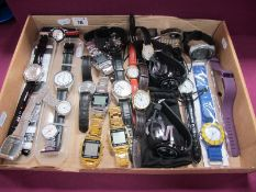 Assorted Wristwatches, including Sekonda, Ingersoll and other nurse's watches, etc :- One Tray