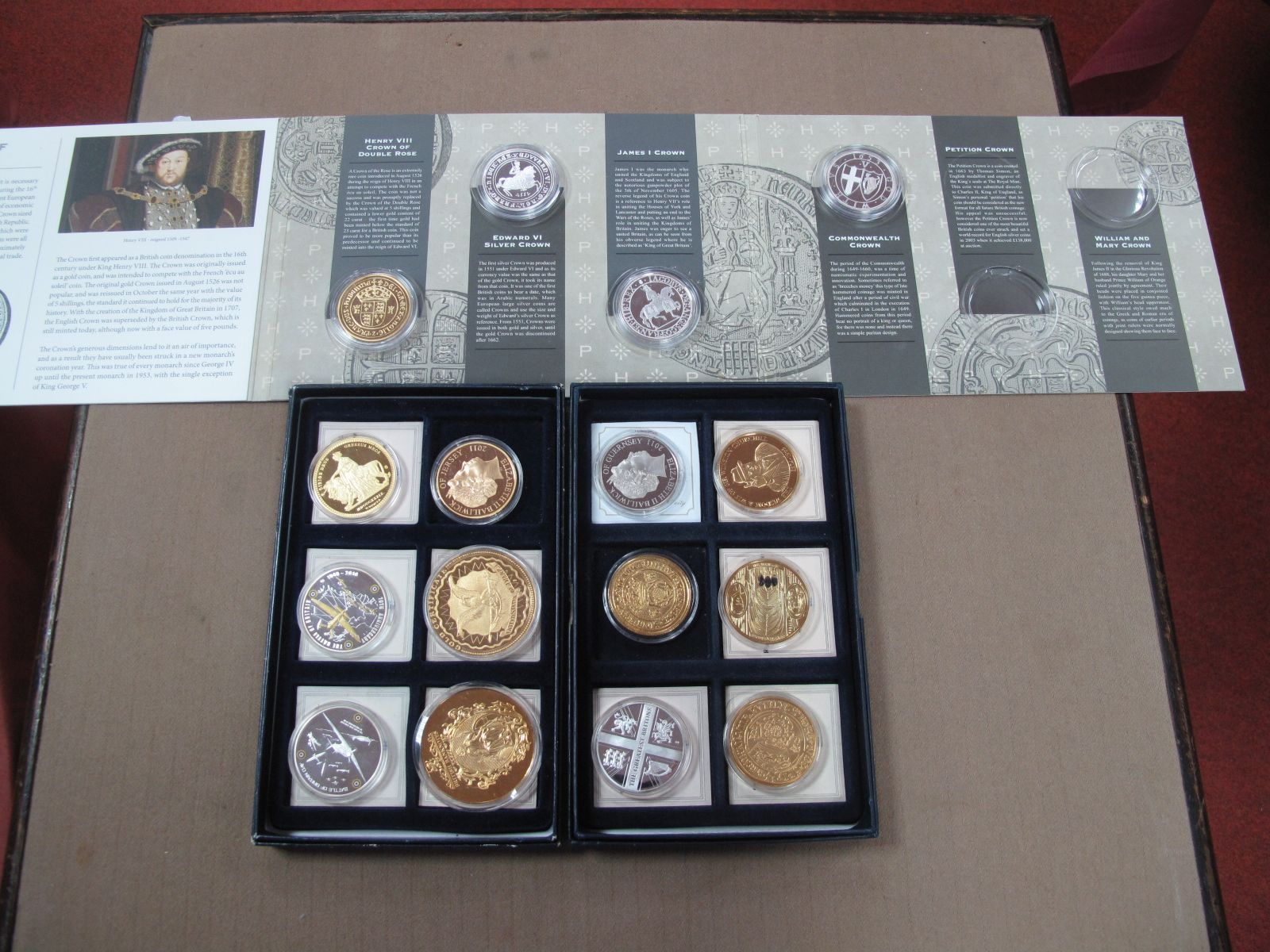 A Collection of Commemorative Coins,including 40th Anniversary of Decimalisation, Battle of