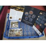 A Large Collection of World Coins, together with a Battle of Waterloo medal collector set (