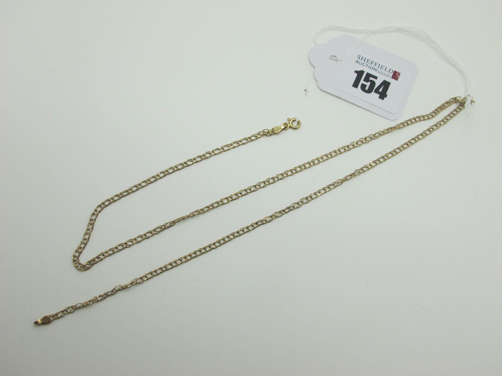 A 9ct Gold Chain, 51.5cm long (clasp broken) (2.8grams).