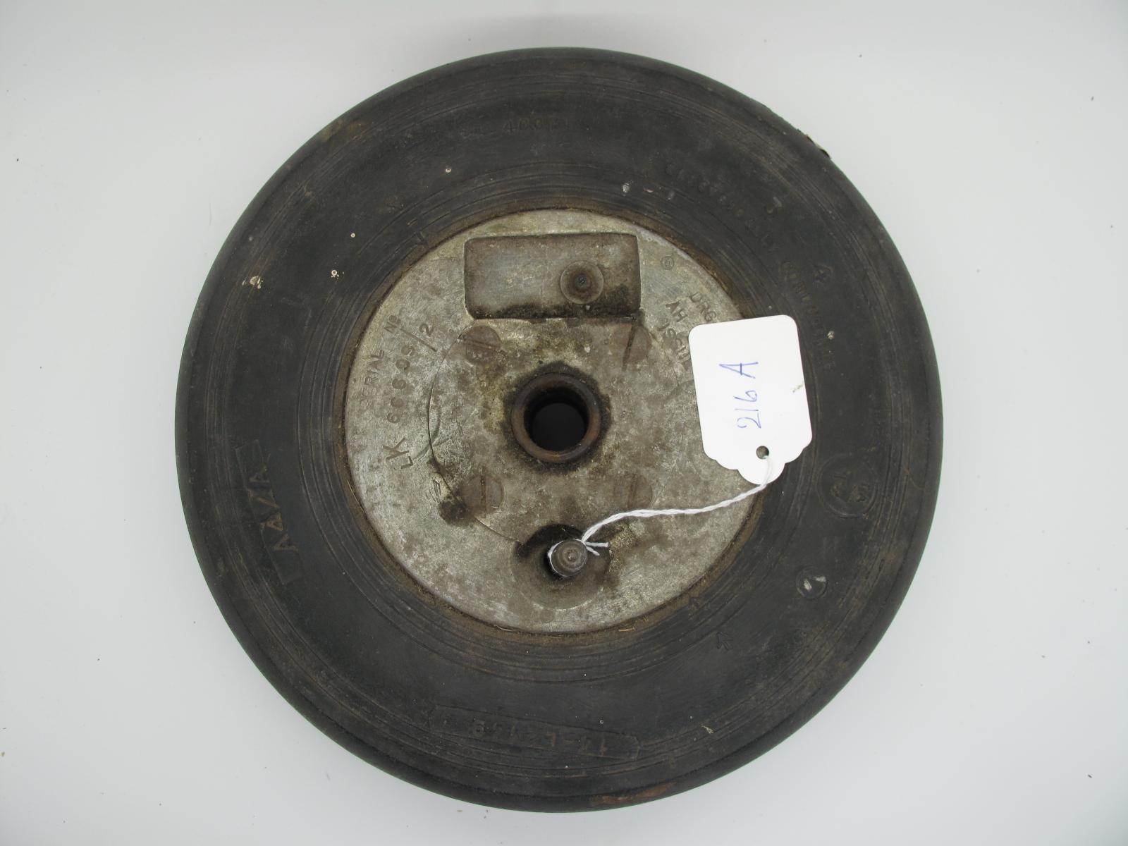 A Spitfire/Hurricane WWII Tail Wheel, Serial No 66699/2, AH 2184/2, 25cm diameter.