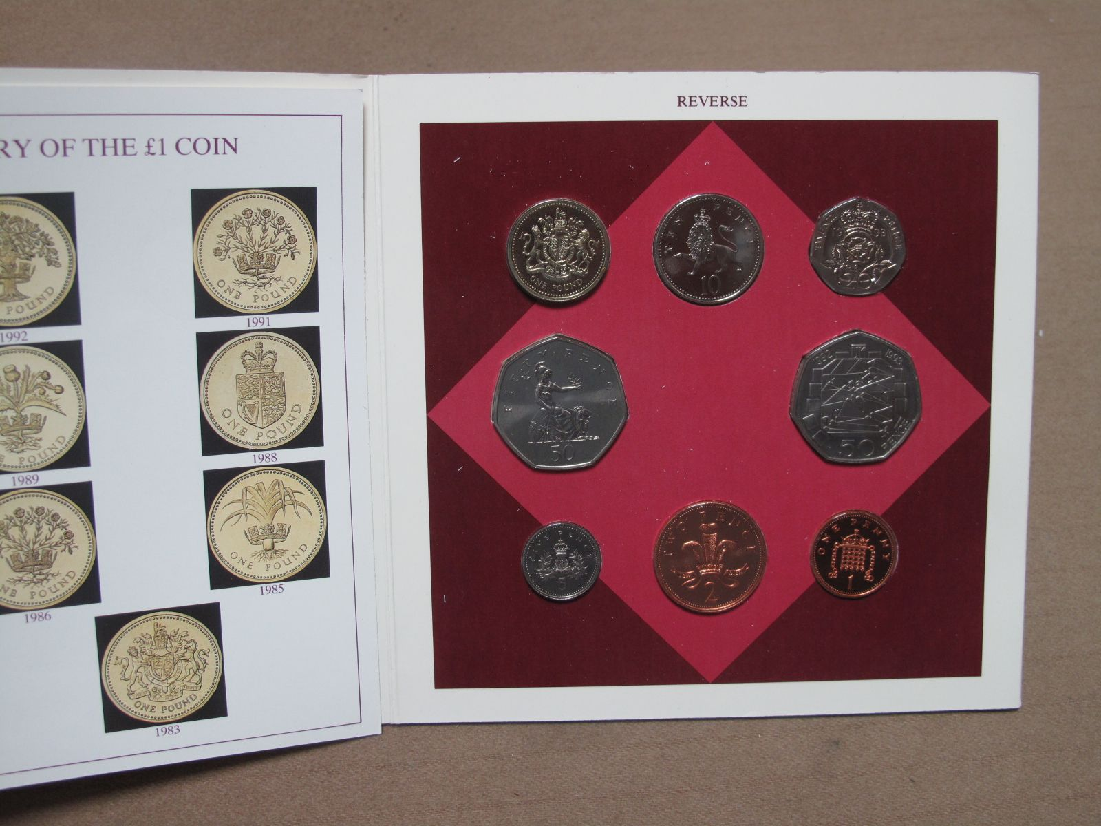 A 1993 Royal Mint Uncirculated Coin Collection, including 1992/1993 Dual Dated EEC 50p, sealed