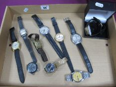 Vintage and Later Gent's Wristwatches, including Seiko 5 (7009-821A), Sekonda, Herma, MuDu,