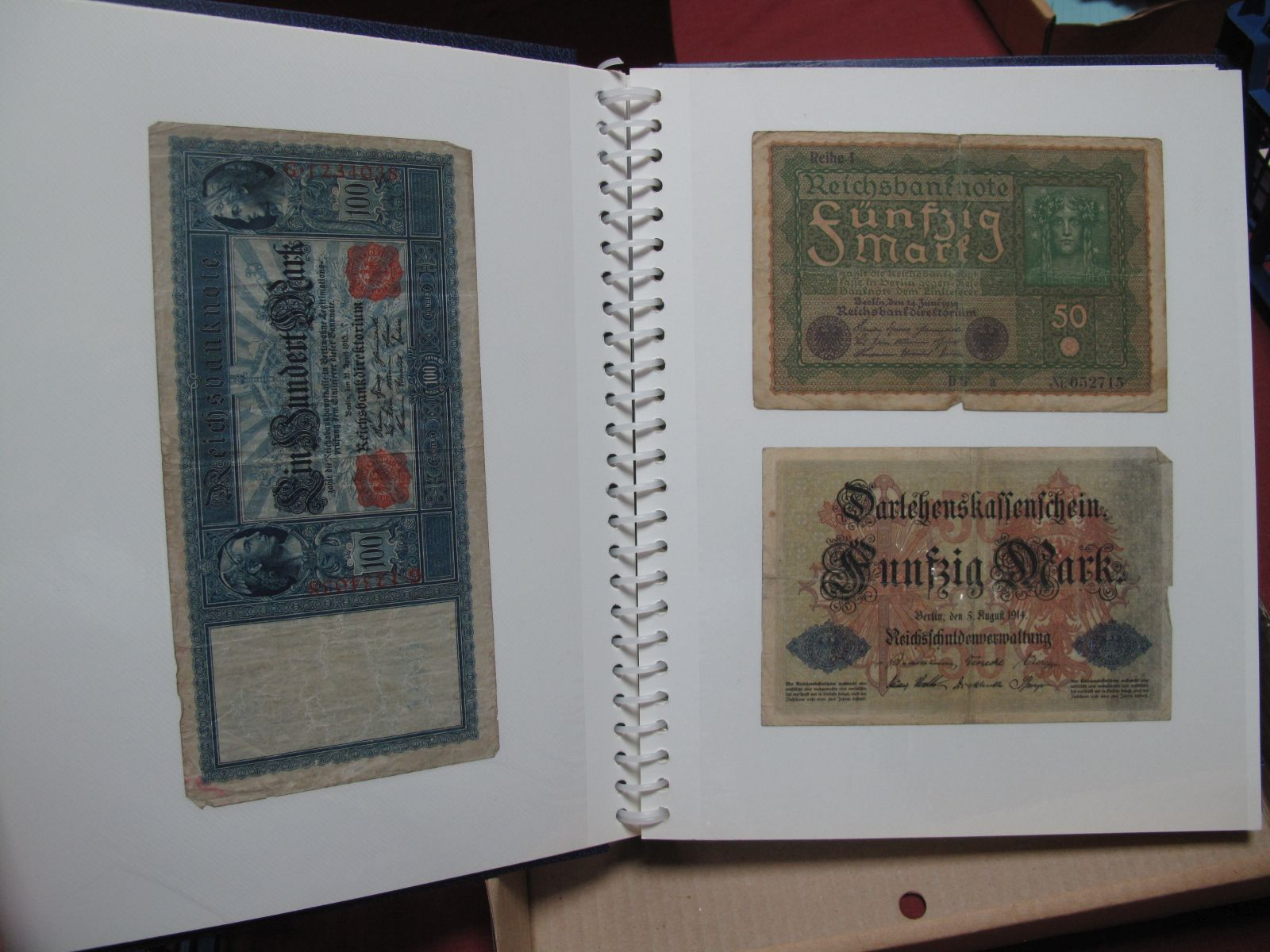 A Collection of mainly U.S.A and German Banknotes, over twenty six US Dollars noted, worthy of
