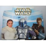 Star Wars 2002 Lucasfilm Promotion Card, 72cm x 62cm, some wear.