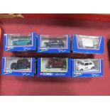 Six Mini Limited Edition Corgi Models, including Isigonis, Rio, Tahiti, Coachbuilt Mini, etc:- All
