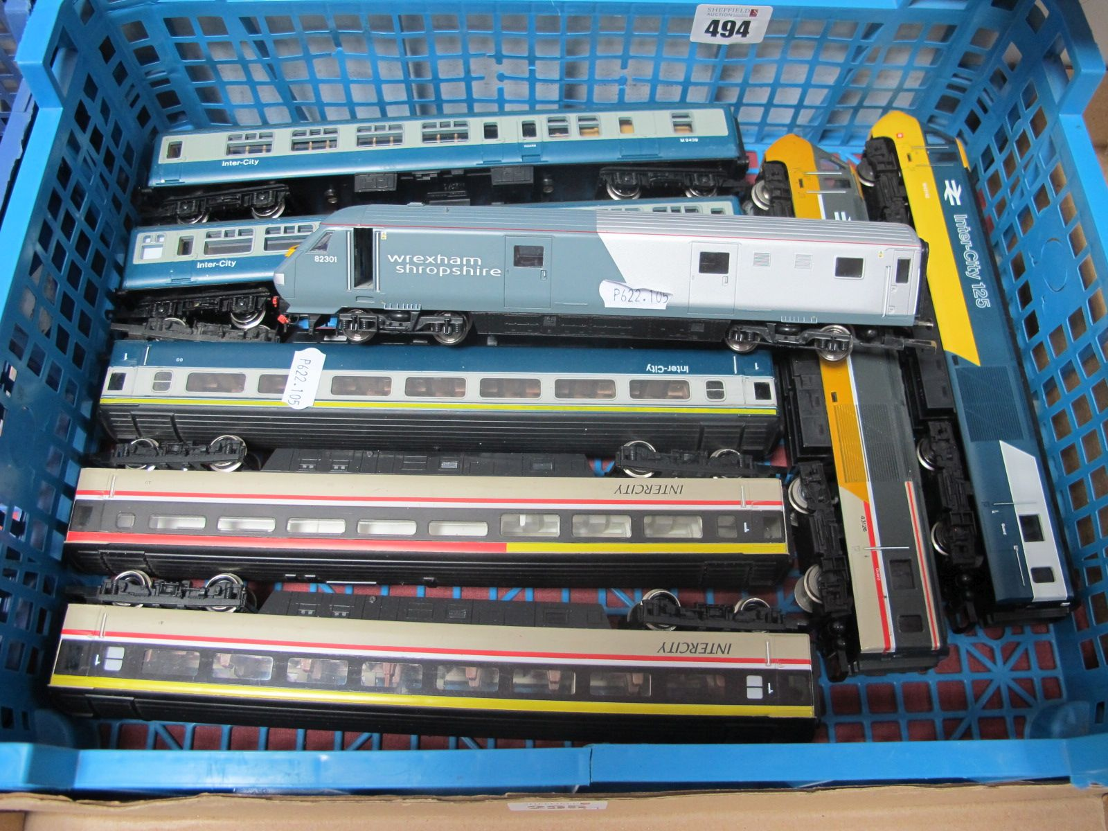 """Three Hornby 'OO' Gauge/4mm Glass 43 """"Dummy"""" Unpowered Locomotives, two Inter City R/No W43142 and"""