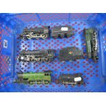 Five 'OO' Gauge/4mm Steam Locomotives, for spares and repair - A Hornby 0-4-0 saddle tank BR black