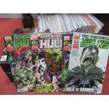 Nine Marvel Comics, to include twenty six Avengers, twenty six Hulk, fifteen Wolverine and Deadpool,