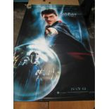 Harry Potter and The Order of The Phoenix Large Lobby Poster featuring Harry with Wand, July 12