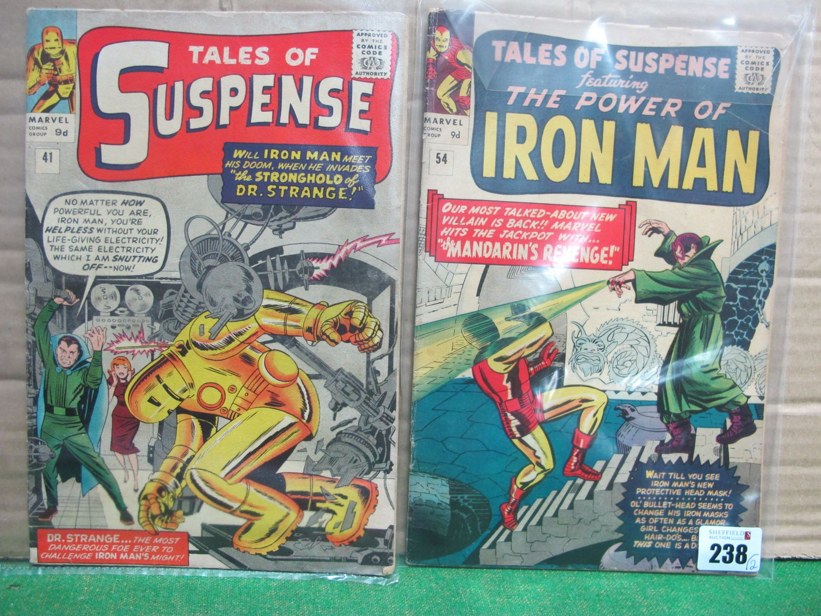 Tales of Suspense #41/No.41, #54/No.54, 9d, both in used well read condition.