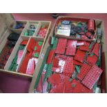 A Quantity of c.1950's Red and Green Meccano Parts, in period dealer box, plus a fuller box quantity