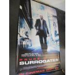 Surrogates, 2009 Official Cinema Banner, 244cm x 152cm with faults.