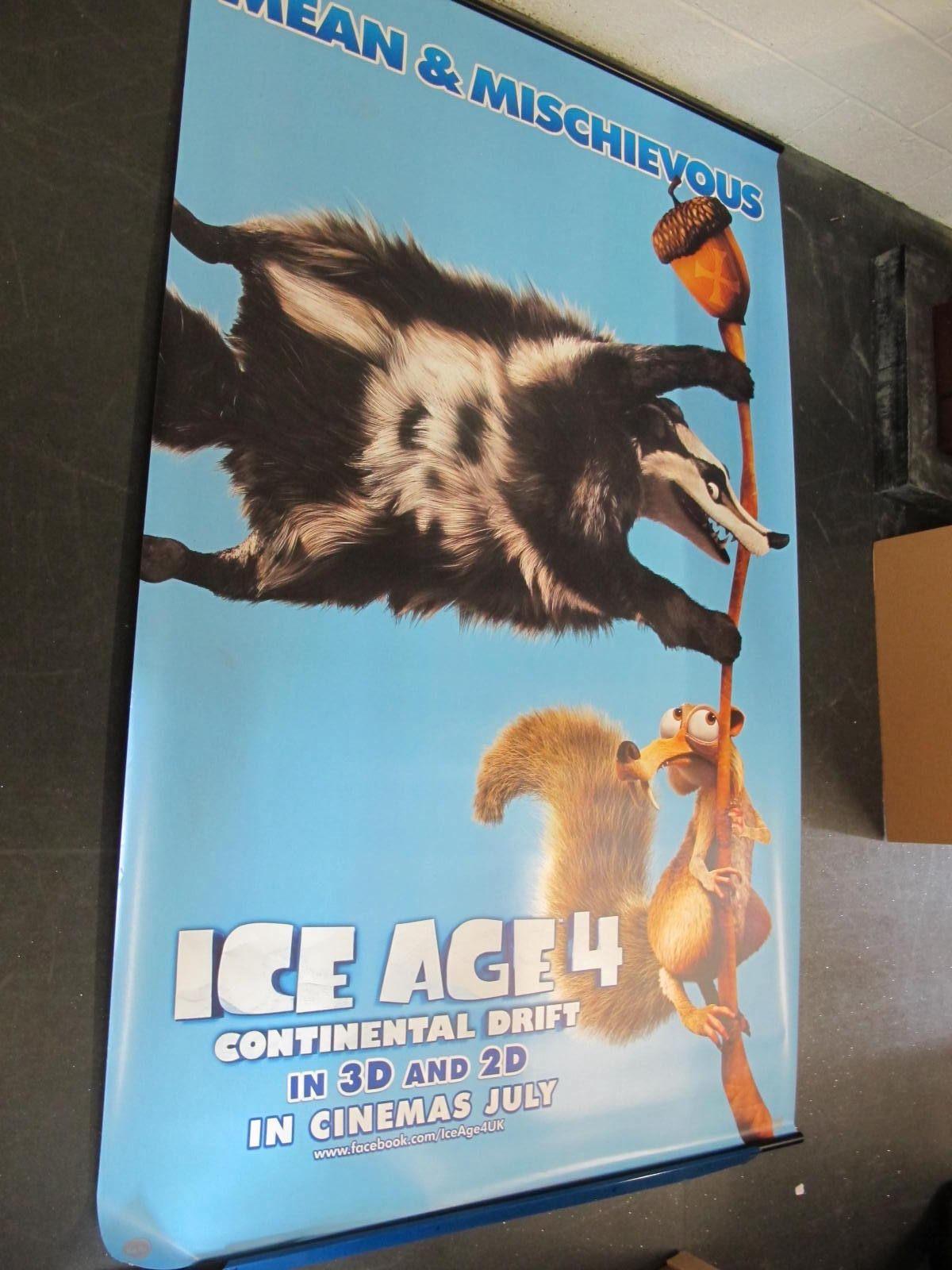 Ice Age 4, 2012 Official Cinema Banner, 244cm x 152cm.