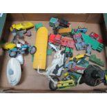 A Quantity of Diecast Vehicles, including Corgi Major Articulated Horse Box and Mack Truck, Matchbox