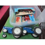 Six ERTL Models, comprising Ford 4000 (missing exhaust), four bottom plow (boxed), flare box