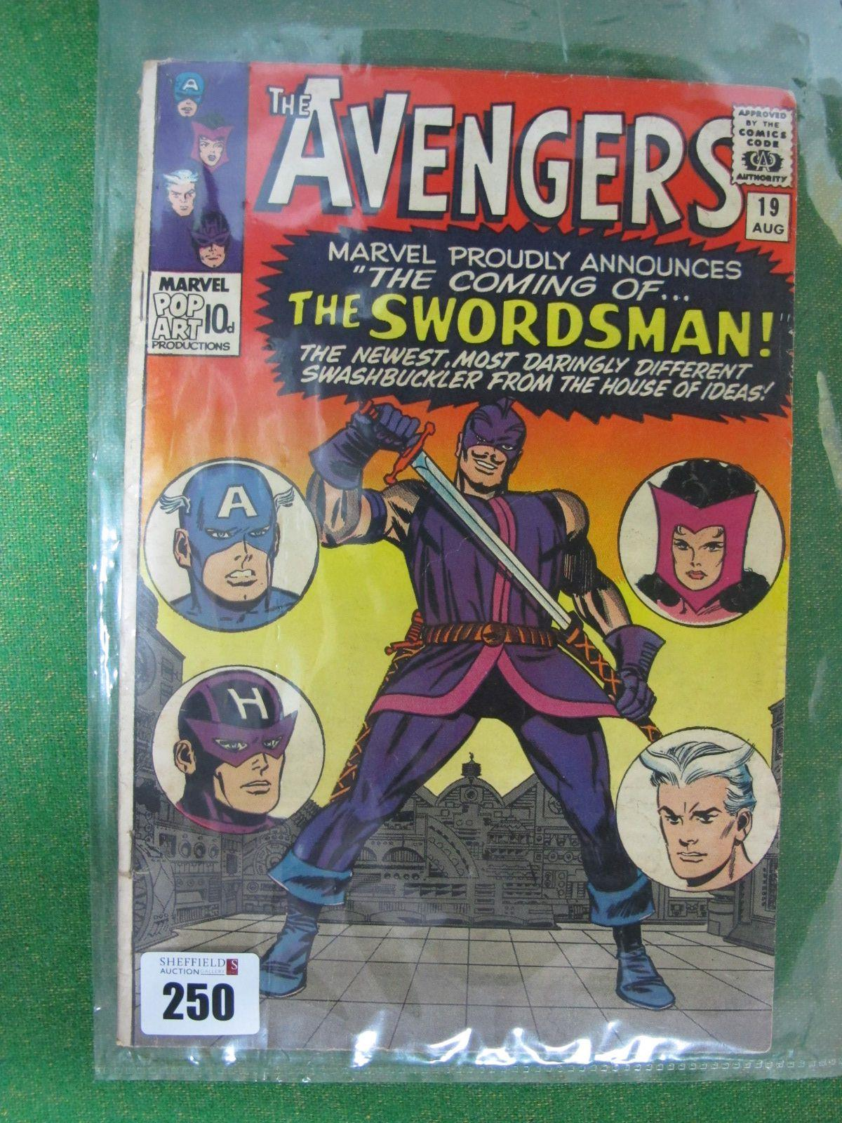The Avengers #19/No.19, 9d, in used well read condition,
