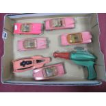 Gerry Anderson Diecast Five Fab 1's, Sales No.100 by Dinky Toys, various conditions, some