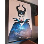 Maleficent, 2014 Official Cinema Banner, 244cm x 152cm with faults.