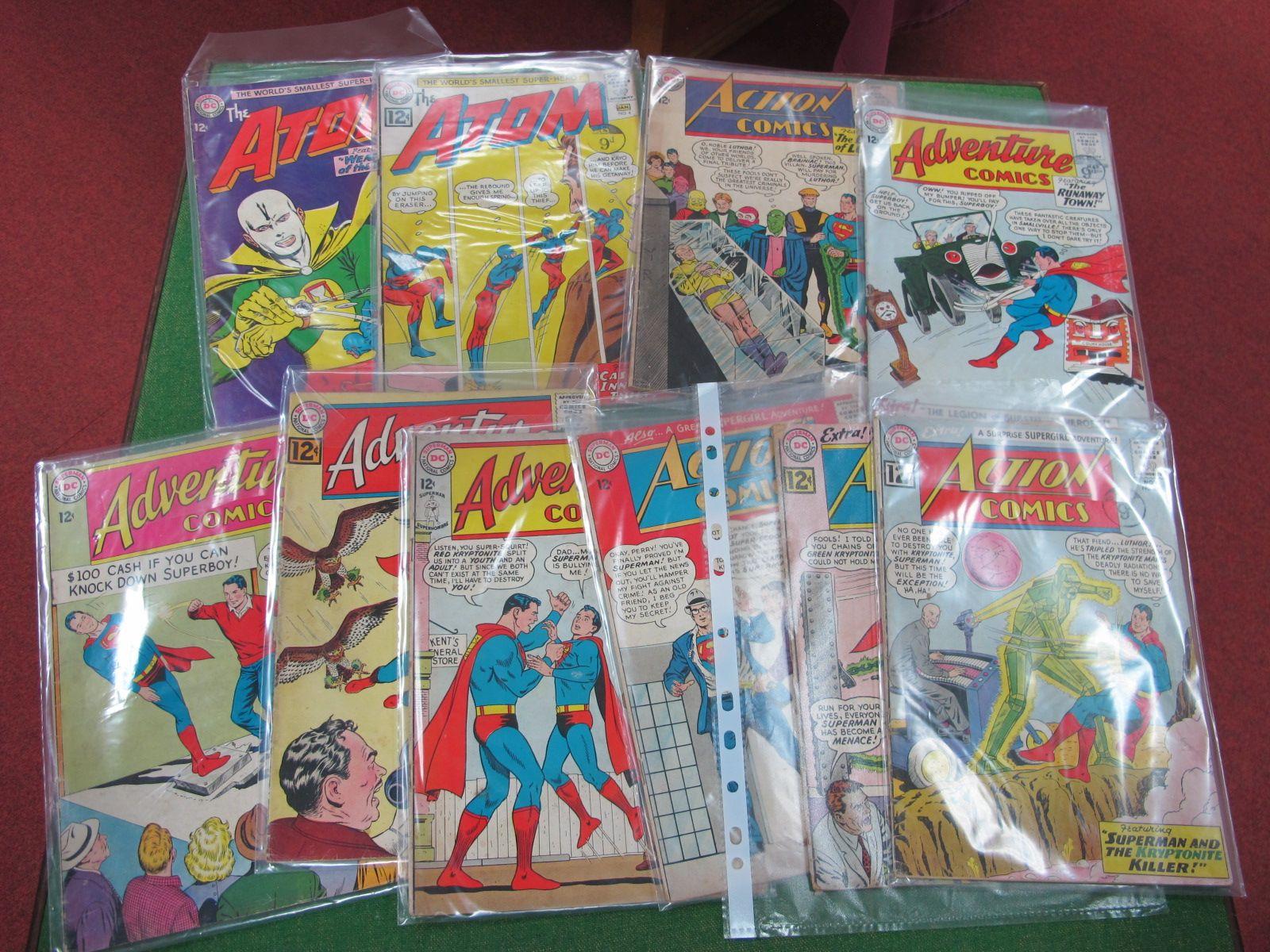 Ten DC Comics, comprising Action Comics #294, #295, #297, #304, #103, #306, #318 and The Atom #13