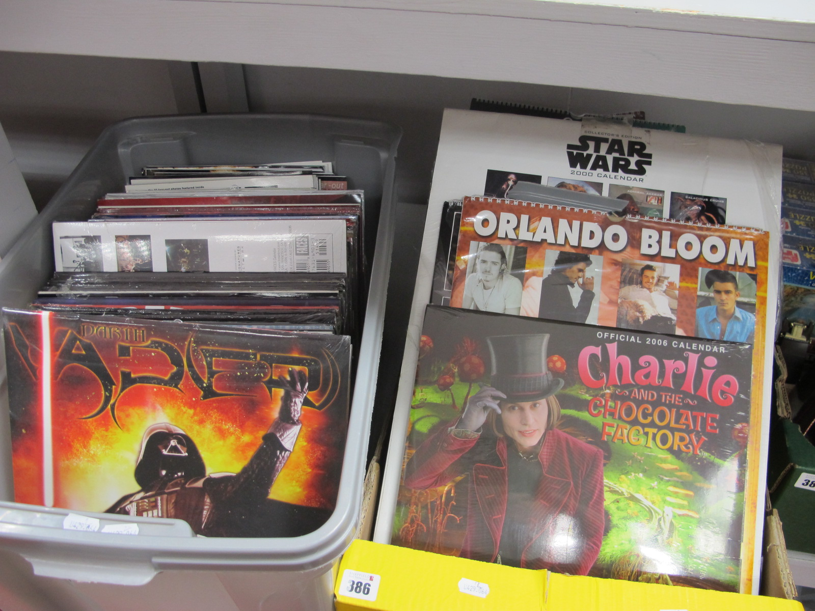 A Quantity of Actor and Singer Related Calendars. to include Star Wars 200 Calendar (Collectors