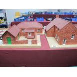 Three Farm Buildings, built from bricklayers components, farmhouse, bull pen and stables,