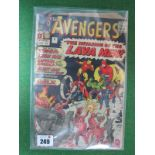 The Avengers #5/No.5, 9d, in used well read condition, some staining to rear.