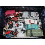 A Tray of Diecast Vehicles all Film/TV Related, including Corgi Batmobile, Chitty Chitty Bang