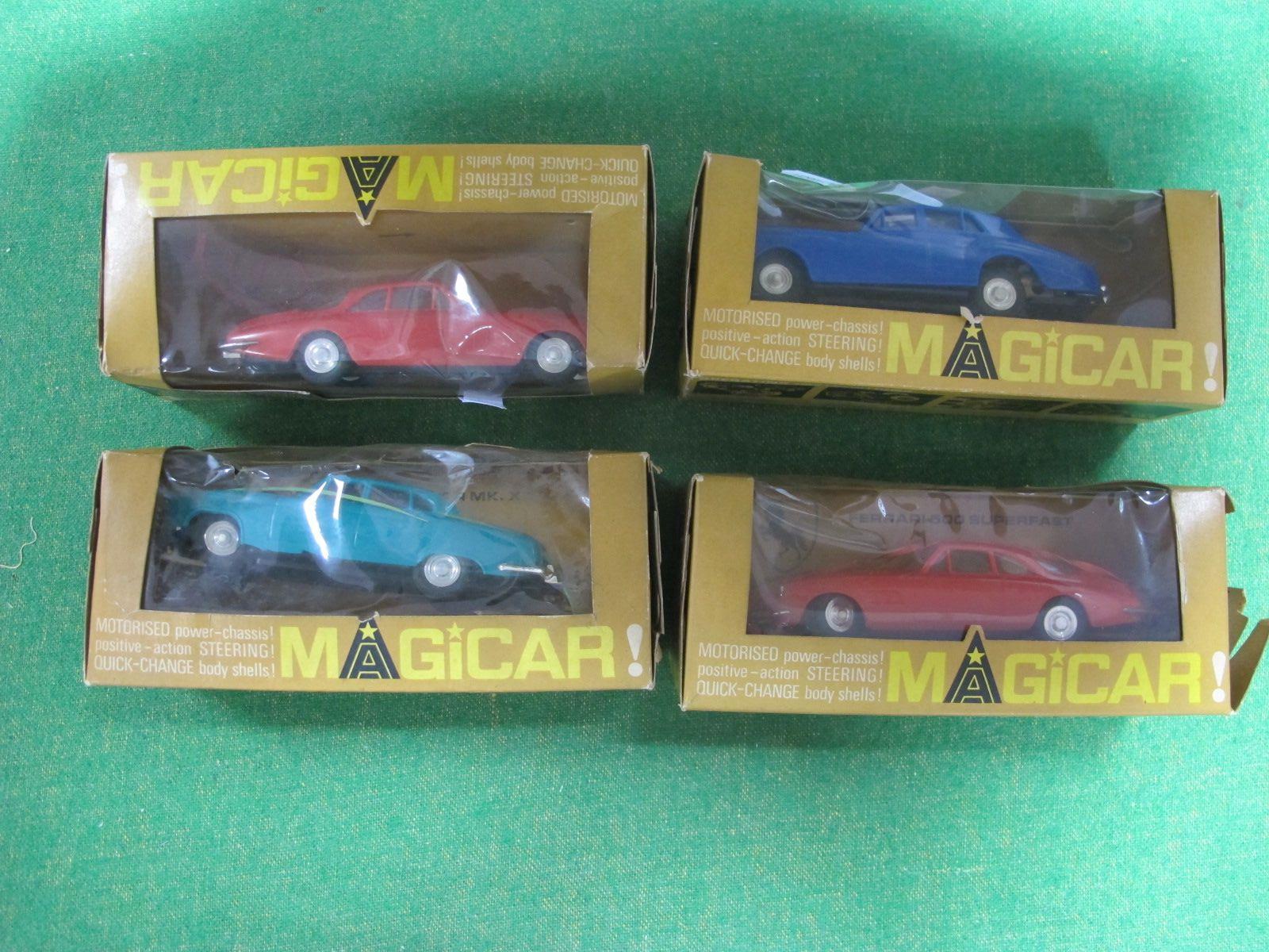 Triang Spot On Magicar - No 903, Bentley S.3, blue livery, (boxed), No 904 Ferrari 500 Superfast,
