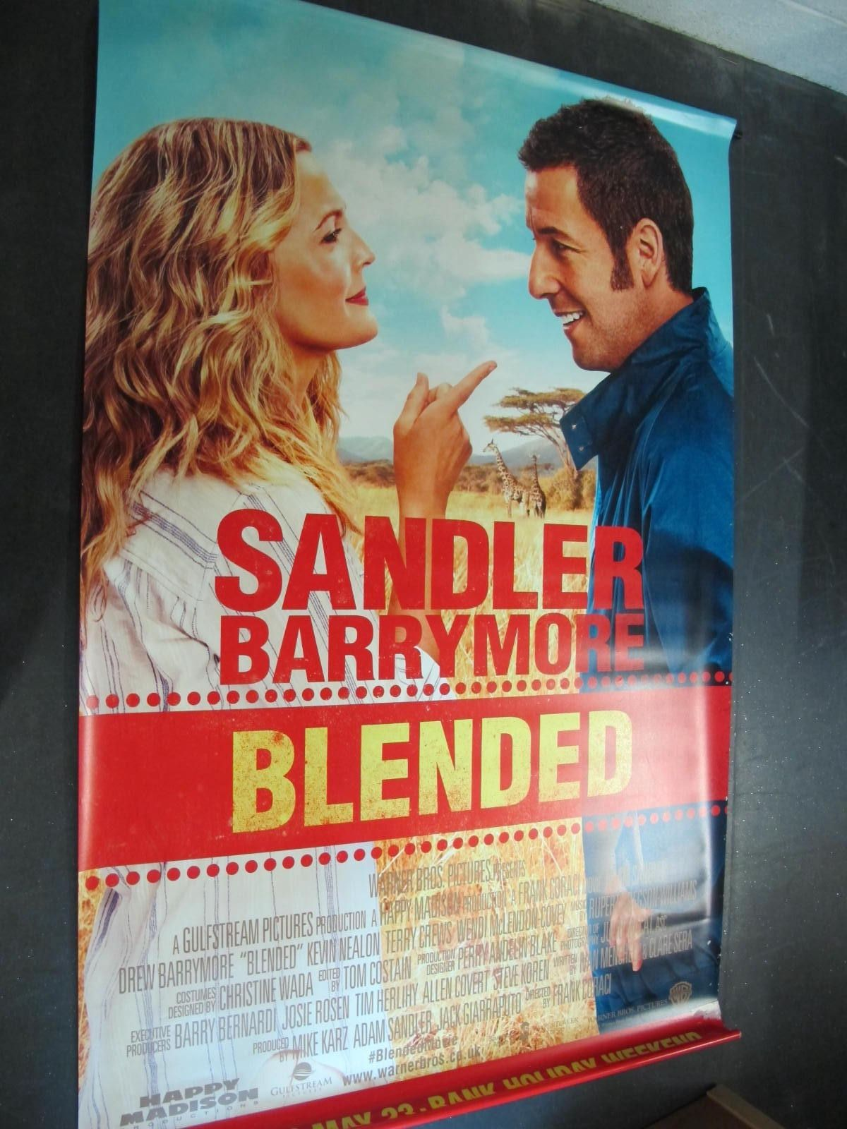 Blended, 2014 Official Cinema Banner, 244cm x 152cm with faults.