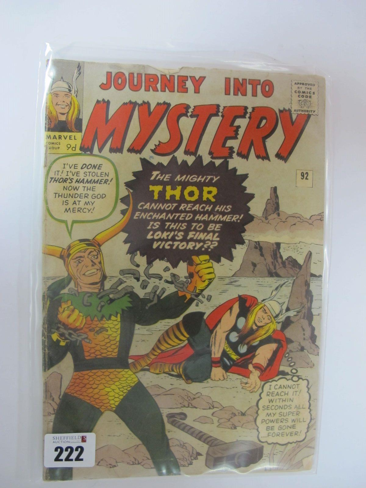 Journey Into Mystery #92/No.92, 9d, in used well read condition.