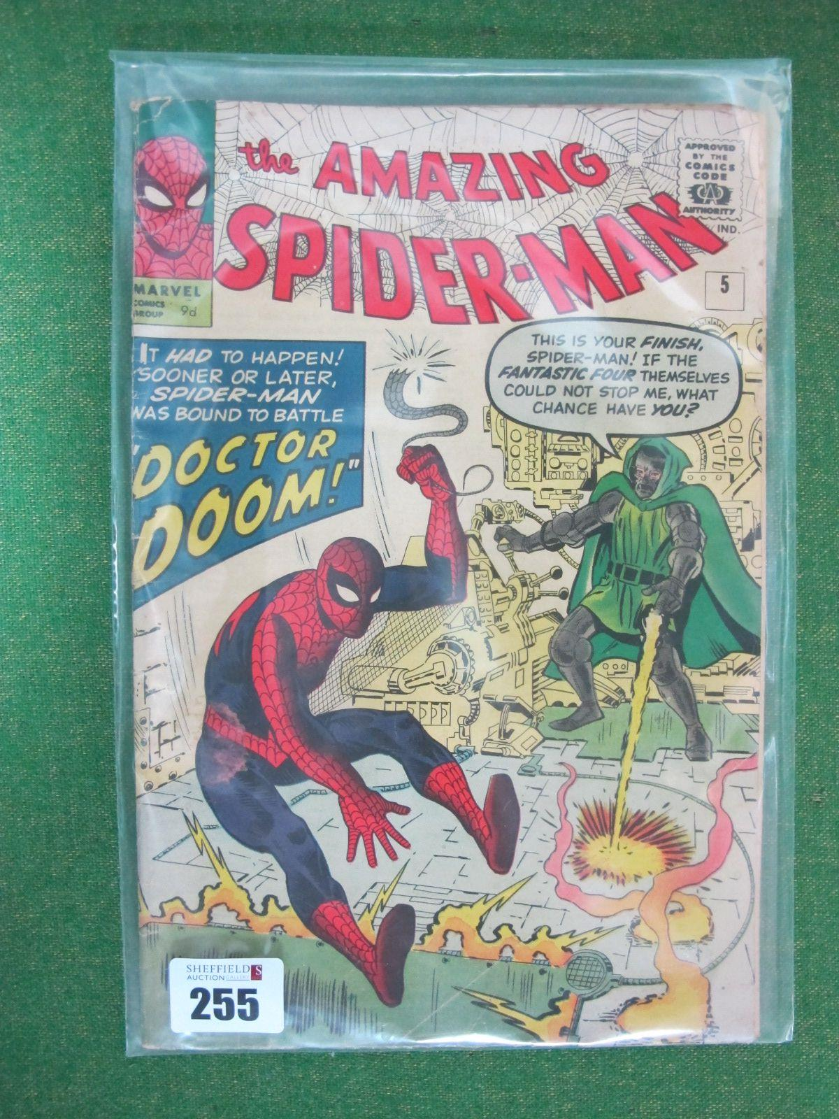 The Amazing Spiderman #5/No.5, 9d, in used well read condition.