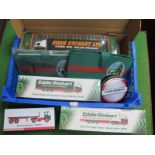 Four Boxed Eddie Stobart Lorries, by Atlas and Corgi, to include 59503 Scania Cartonside Trailer,