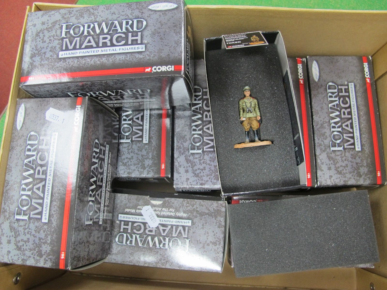 Eight Forward March Hand Painted Metal Figures, by Corgi, comprising CC59168 General Rommel, CC59162