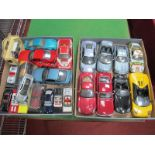 Two Trays of Various Diecast and Burago Model Vehicles, including Ford Mustang, Dodge Viper,
