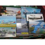 Seven Plastic Aircraft Kits, to include Pegasus P-51 B, Mustang Mark I models, Spitfire F/FR MK XIV,