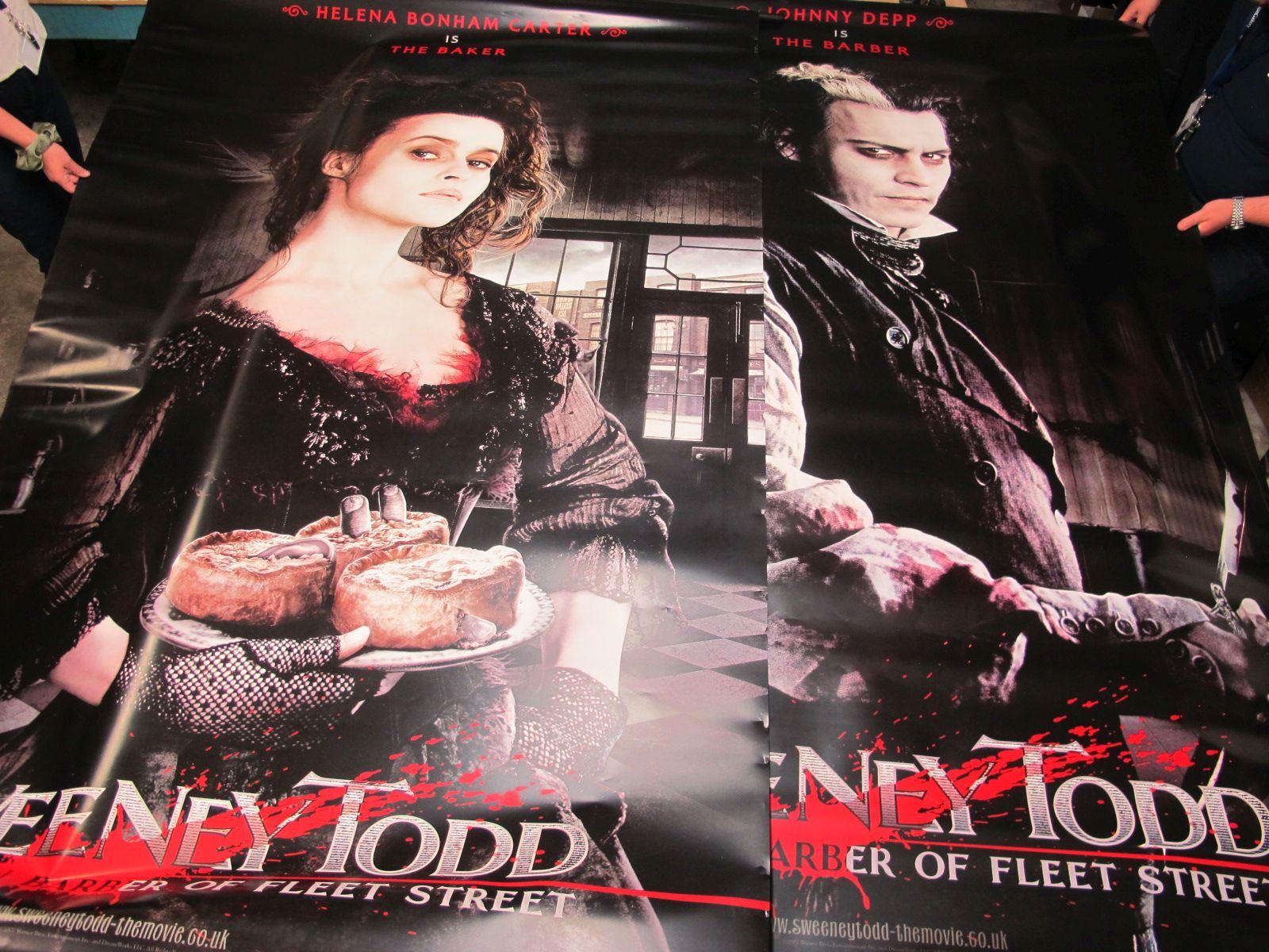 Sweeney Todd Large Lobby Posters, in chinemas January 2008, featuring Johnny Depp, Helena Bonham